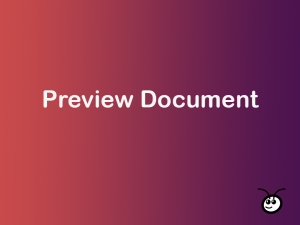Preview Document for SuiteCRM